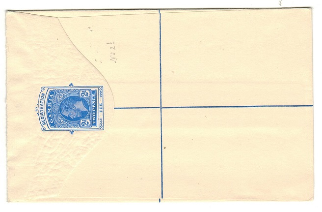 GAMBIA - 1912 2d ultramarine RPSE (size G) unused.  H&G 2a.