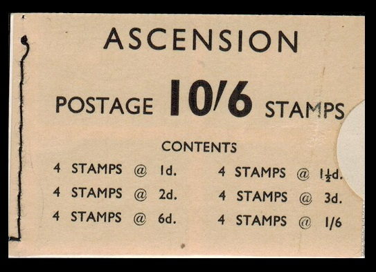 ASCENSION - 1963 10s6d BOOKLET complete.  SG SB1.