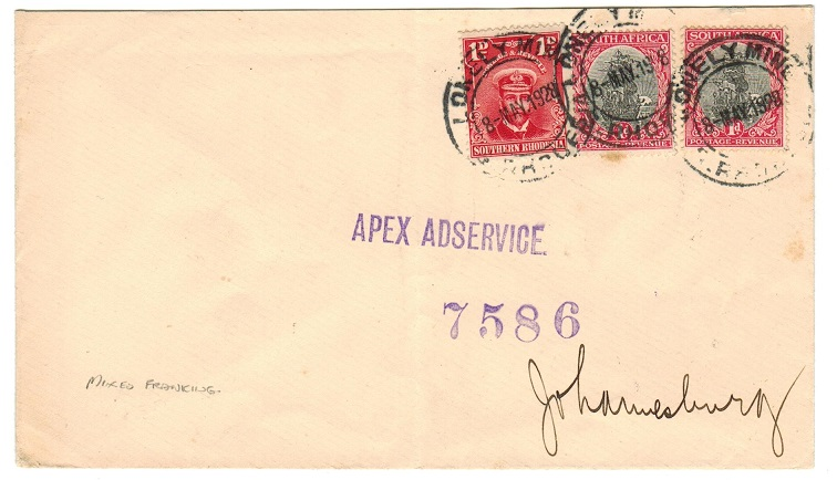 SOUTHERN RHODESIA - 1928 3d rate