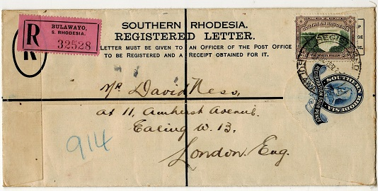 SOUTHERN RHODESIA - 1931 4d dark blue RPSE 