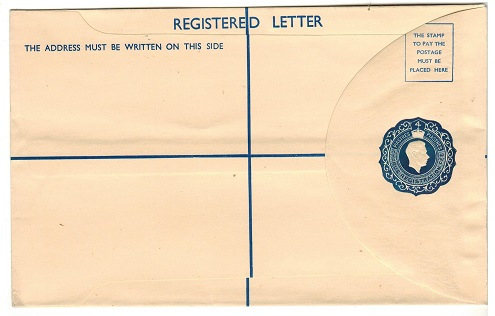 CYPRUS - 1950 4pi dark blue RPSE (size H) unused.  H&G 14b.