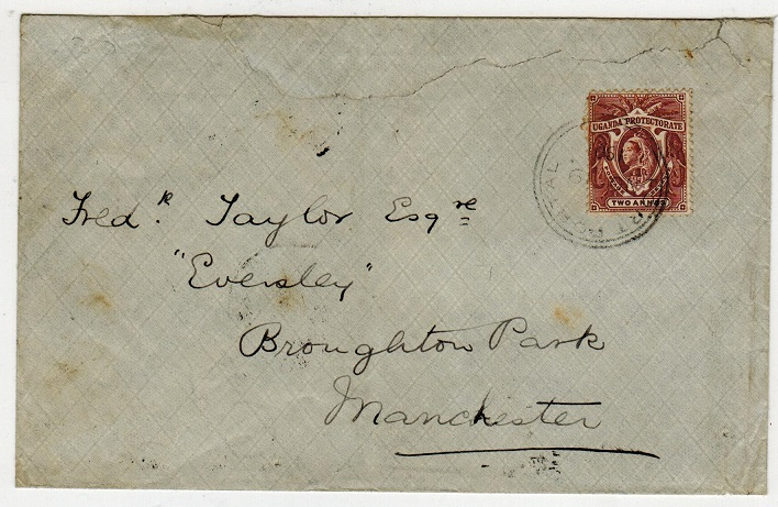 UGANDA - 1901 2a rate cover to UK used at FORT PORTAL.
