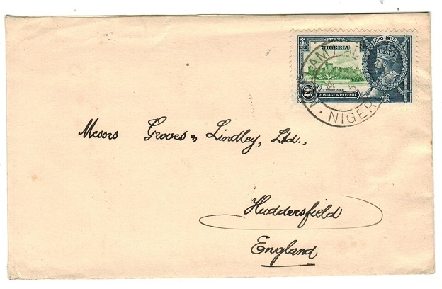 NIGERIA - 1935 2d rate cover to UK bearing