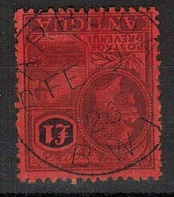 BARBUDA - 1922 £1 adhesive of Antigua (SG 61) cancelled BARBUDA.