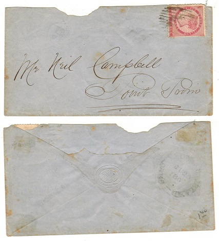 PRINCE EDWARD ISLAND - 1869 local 2d rate cover to Point Prim.