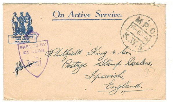 NEW ZEALAND - 1944 stampless