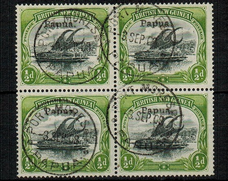PAPUA - 1907 1/2d black and yellow green
