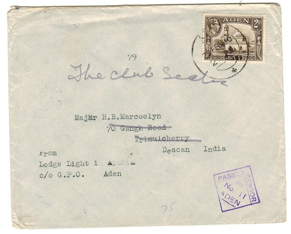 ADEN - 1940 2a rate