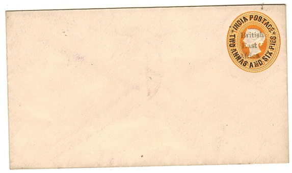 BRITISH EAST AFRICA - 1896 2 1/2a on 4 1/2a orange PSE unused.  H&G 3.
