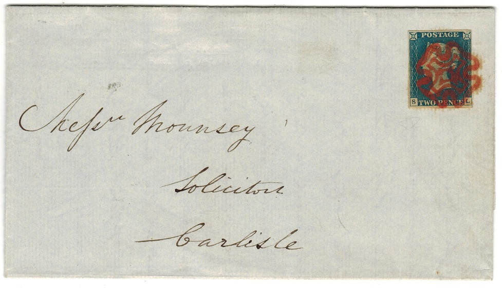 GREAT BRITAIN - 1841 2d blue cover to Carlisle.