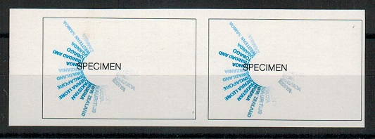 SINGAPORE - 1971 15c (SG 146) IMPERFORATE PROGRESSIVE PROOF pair.