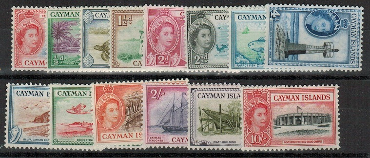 CAYMAN ISLANDS - 1953 definitive short set to 10/- U/M.  SG 148-161.