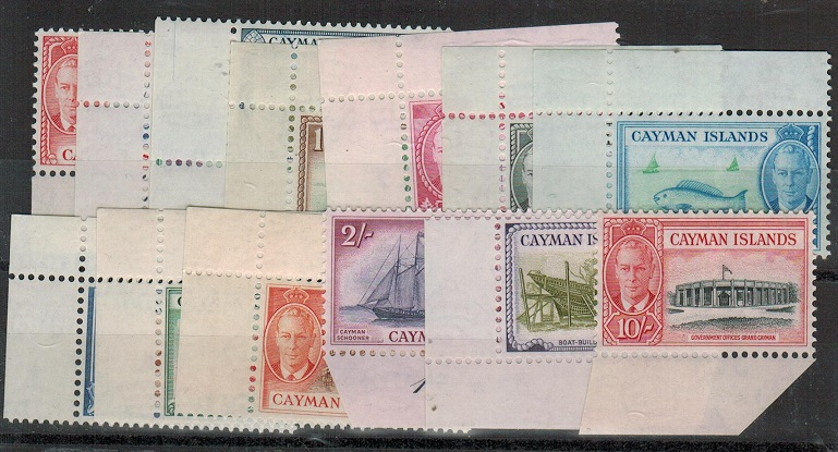 CAYMAN ISLANDS - 1950 definitive set of 13 U/M.  SG 135-47