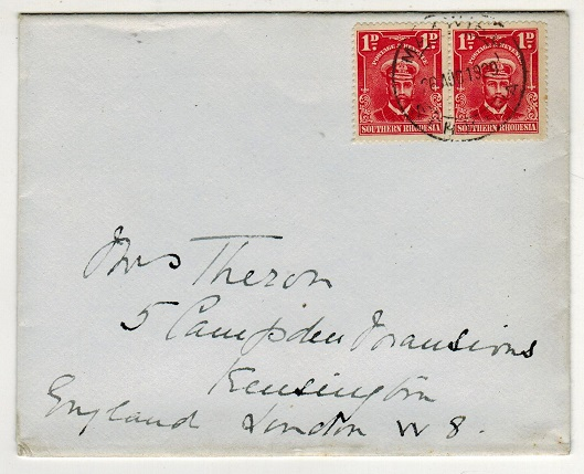 SOUTHERN RHODESIA - 1929 2d rate cover to UK used at MAKWIRO.