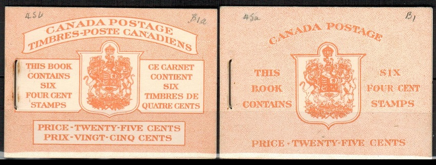 CANADA - 1954 25c orange BOOKLET
