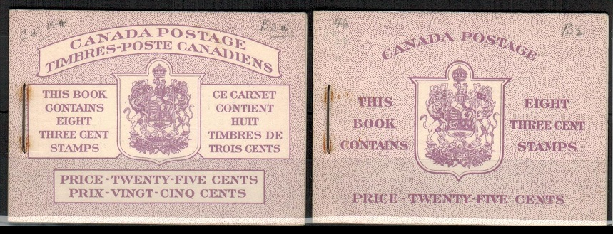 CANADA - 1953 25c purple BOOKLET