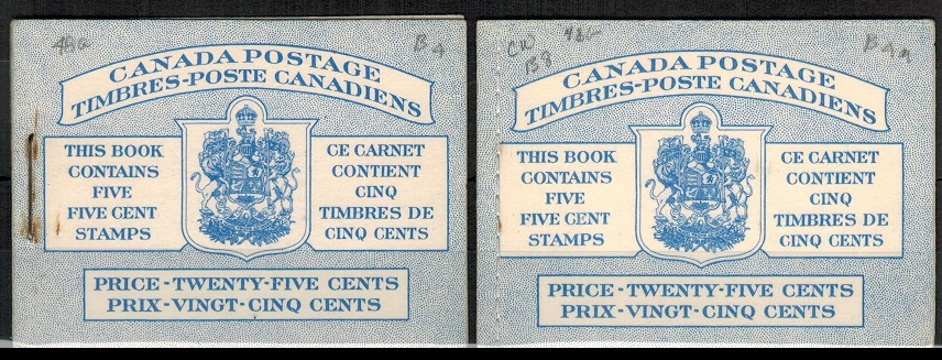 CANADA - 1954 25c blue BOOKLET