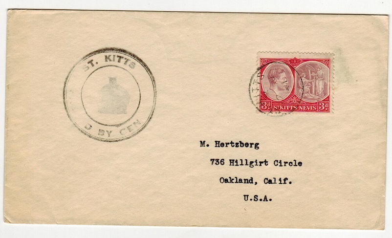 ST.KITTS - 1941 3d rate