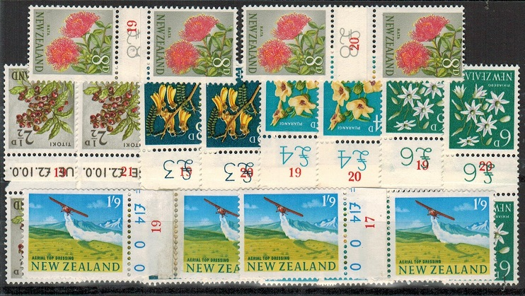 NEW ZEALAND - 1960 range of