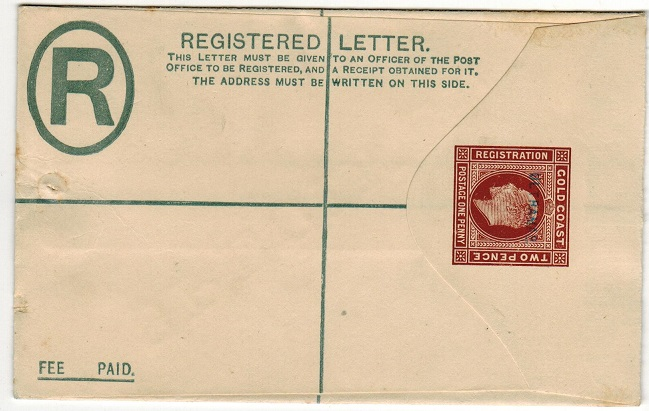 GOLD COAST - 1904 2d+1d brown RPSE unsed with SPECIMEN applied and additional ULTRAMAR h/s.