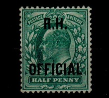 GREAT BRITAIN - 1902 1/2d blue green
