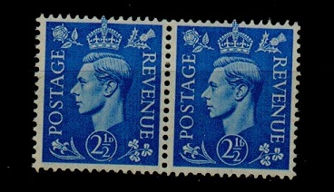 GREAT BRITAIN - 1941 2 1/2d U/M pair showing