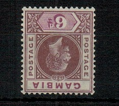 GAMBIA - 1921 6d dull and bright purple U/M with REVERSED WATERMARK.  SG 114x.