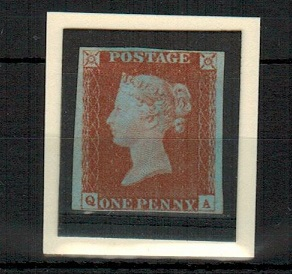 GREAT BRITAIN - 1841 1d red-brown mint.  SG 8.