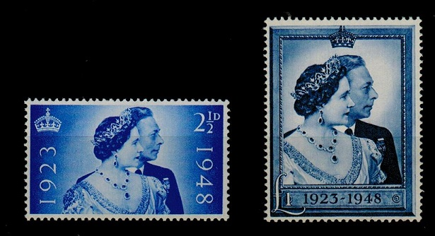 GREAT BRITAIN - 1948 Royal Wedding pair in fine unmounted mint condition.  SG 493-94.