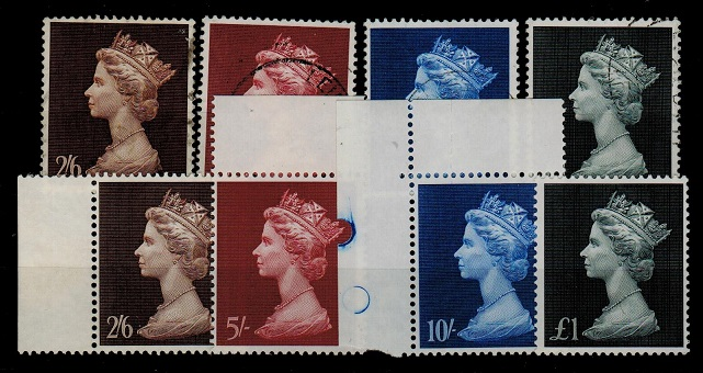 GREAT BRITAIN - 1969 2/6d - £1 defins U/M and fine used.  SG 787-90.