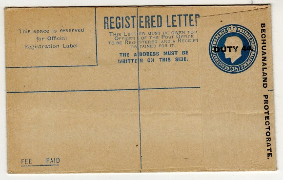 BECHUANALAND - 1919 4d on 3 1/2d blue RPSE unused.  H&G 13.