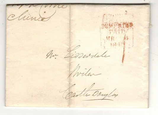 GREAT BRITAIN - 1840 entire to Castle Douglas with DUMFRIES/PAID h/s.