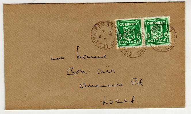 GREAT BRITAIN (Guernsey) - 1941 1/2d pair