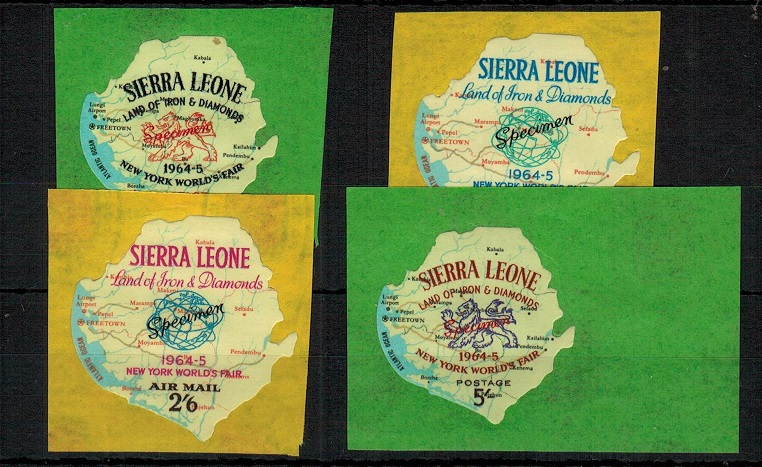 SIERRA LEONE - 1964 1d,9d, 2/6d and 5/-