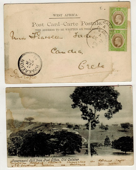 SOUTHERN NIGERIA - 1905 1d rate postcard to Crete.