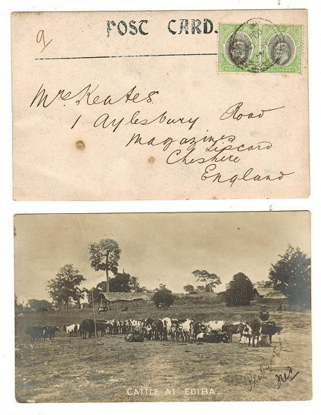 SOUTHERN NIGERIA - 1904 1d rate postcard to UK.