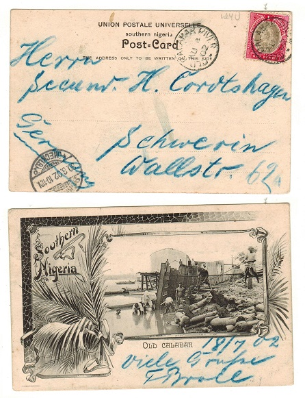 SOUTHERN NIGERIA - 1902 1d rate postcard to Germany.