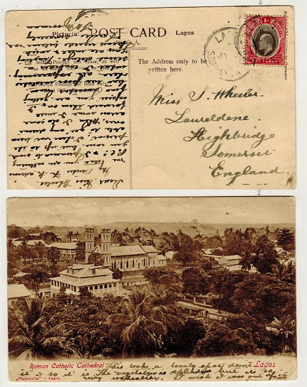 SOUTHERN NIGERIA - 1908 1d rate postcard use to UK.