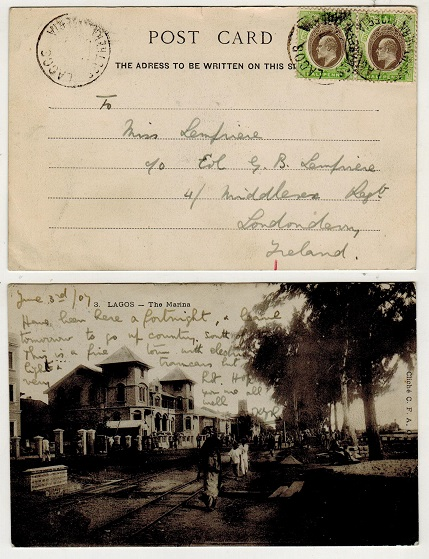 SOUTHERN NIGERIA - 1907 1d rate postcard use to UK.