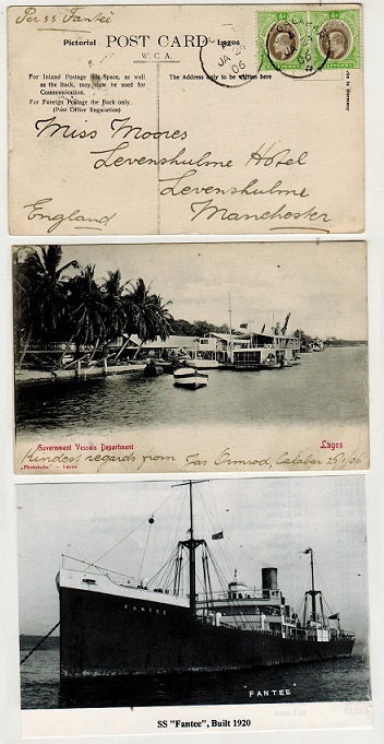 SOUTHERN NIGERIA - 1906 1d rate postcard use to UK.