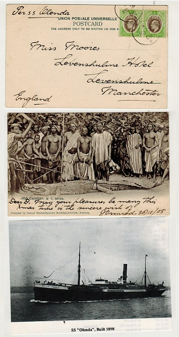 SOUTHERN NIGERIA - 1905 1d rate postcard use to UK.
