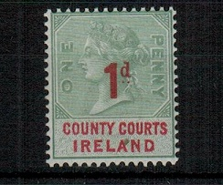 IRELAND - 1895 1d red on 1d green COUNTY COURTS/IRELAND adhesive mint.