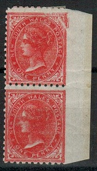 AUSTRALIA (New South Wales) - 1886 1d mint IMPERF RIGHT MARGINAL pair.  SG 243a.