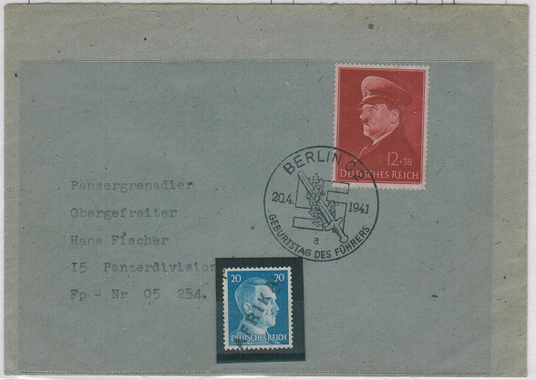 GERMANY - 1941 cover addressed to