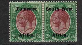 SOUTH WEST AFRICA - 1923 2/6d purple and green mint pair.  SG 28.