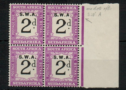 SOUTH WEST AFRICA - 1928 2d