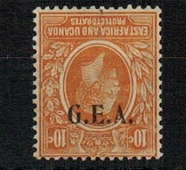 TANGANYIKA - 1922 10c orange mint