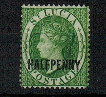 ST.LUCIA - 1882 1/2d green mint.  SG 25.