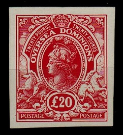 COLONIAL PROOFS AND ESSAYS - 1910 £20 red