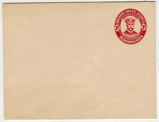 RHODESIA - 1913 1d red on cream